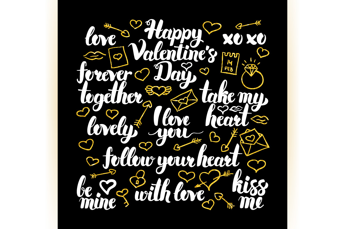 Happy Valentines Day Lettering example image 4