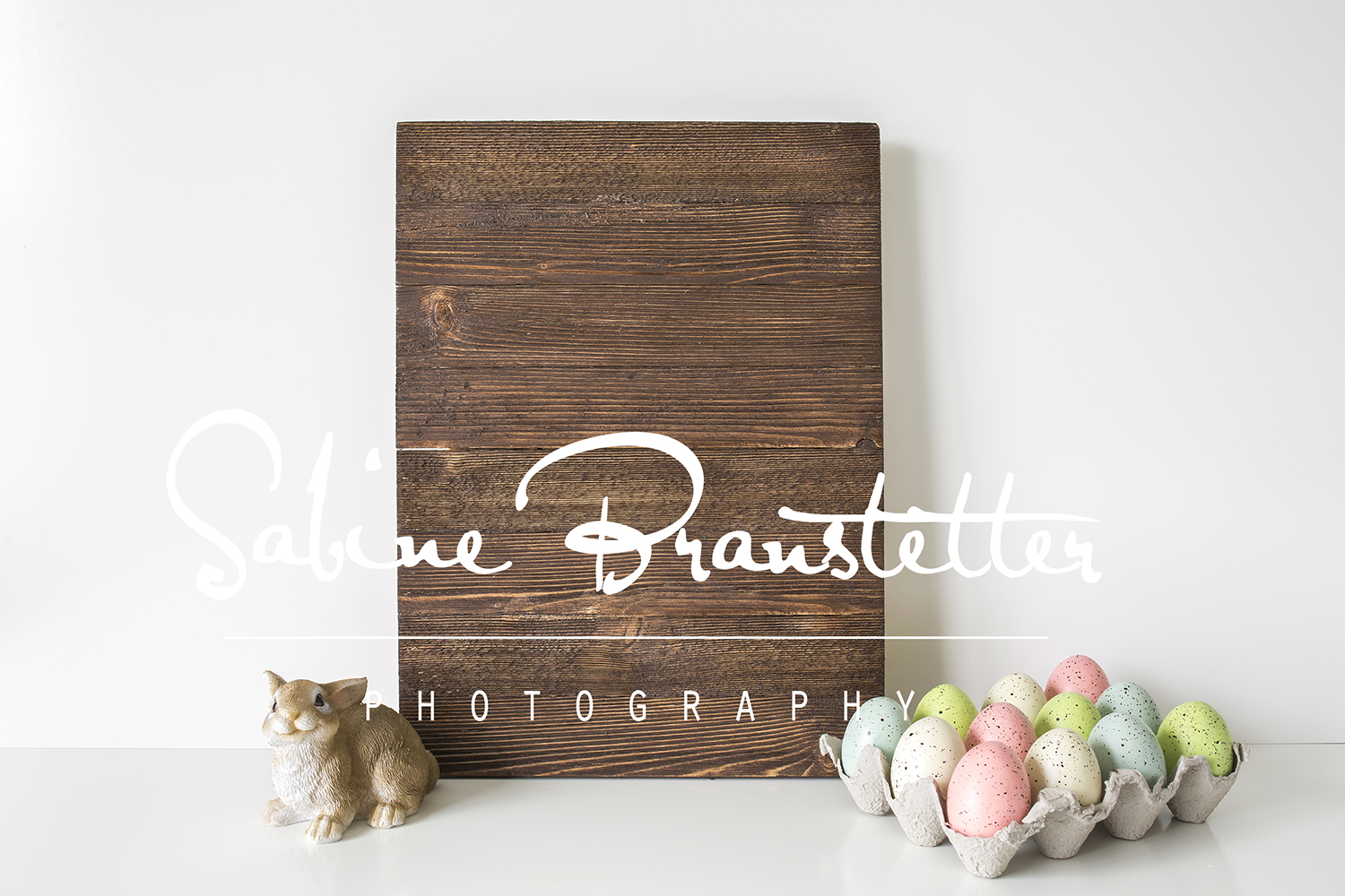 Styled Stock Photography Rustic Easter Wood Sing Mockup example image 1