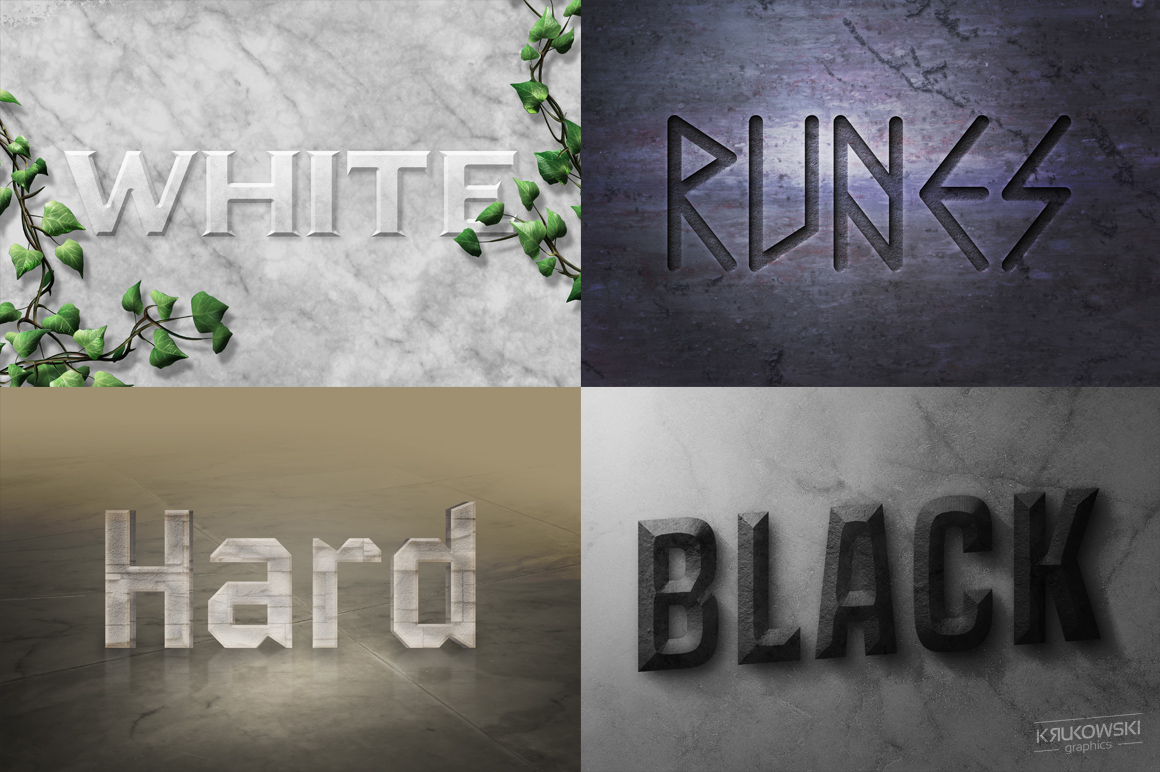 Stone Text Effects Mockup example image 3