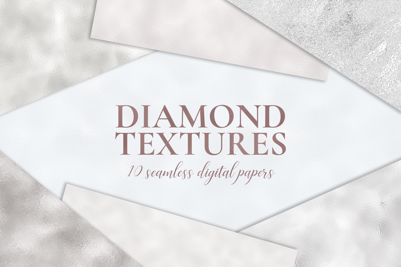 10 Diamond Foil Textures - Seamless Metallic Backgrounds example image 1
