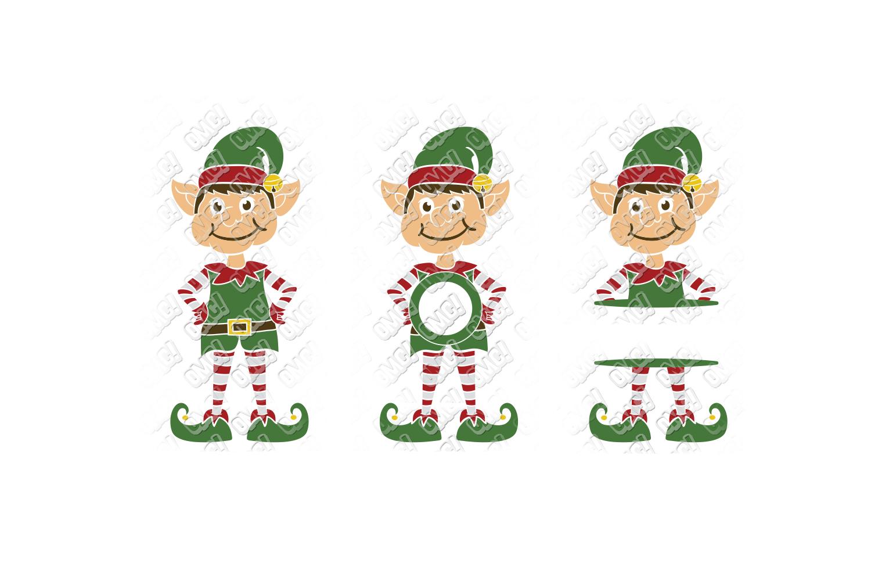 Elf SVG Bundle Monogram Quotes in SVG, DXF, PNG, EPS, JPEG example image 4
