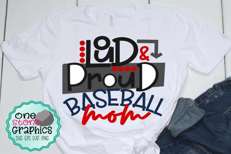 Loud and proud baseball mom svg,baseball mom svg,baseball example image 1