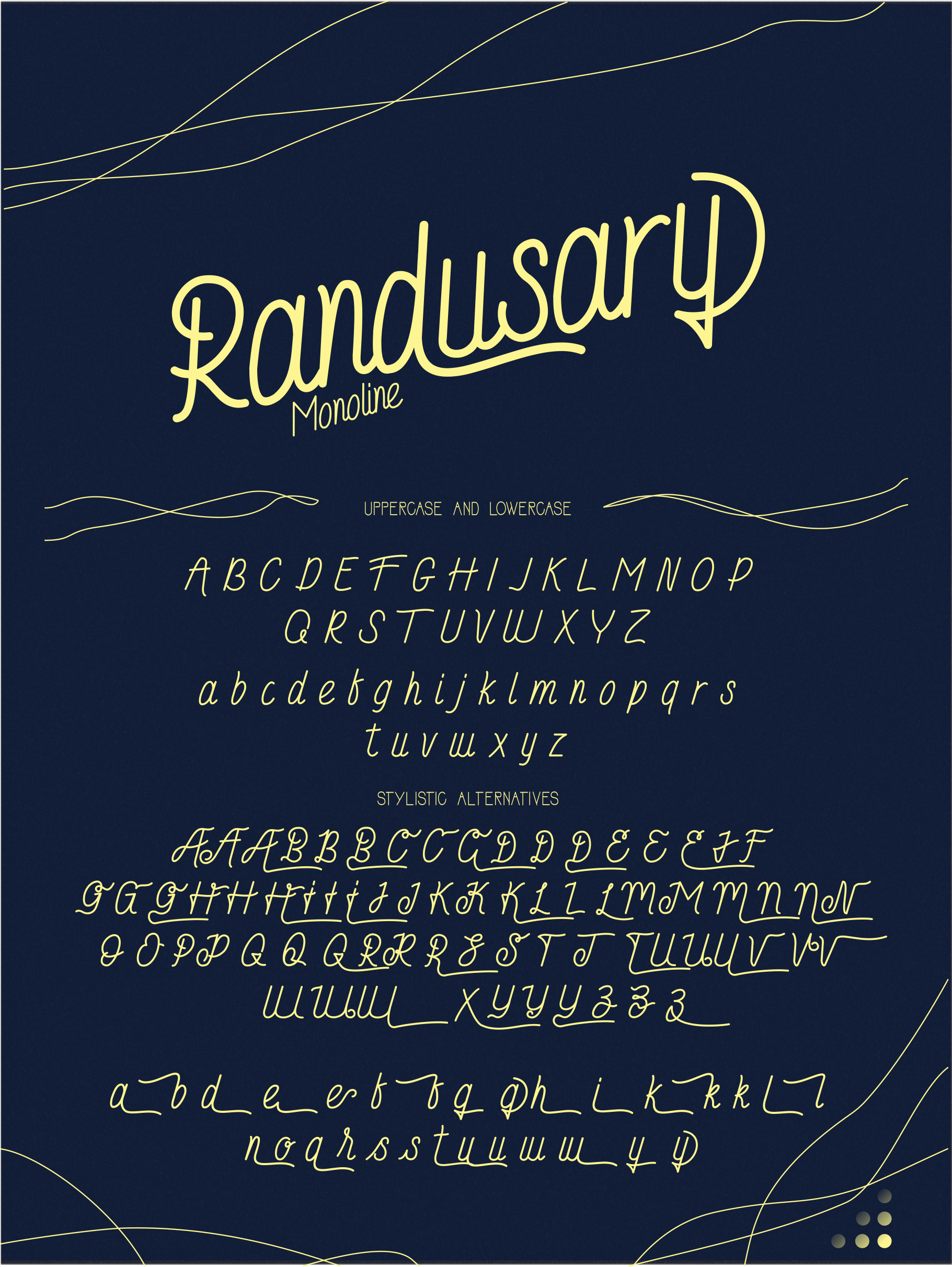Randusary 3 Font example image 5