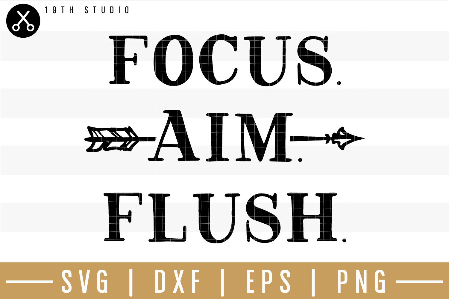 Focus aim flush SVG| Bathroom sign SVG example image 1
