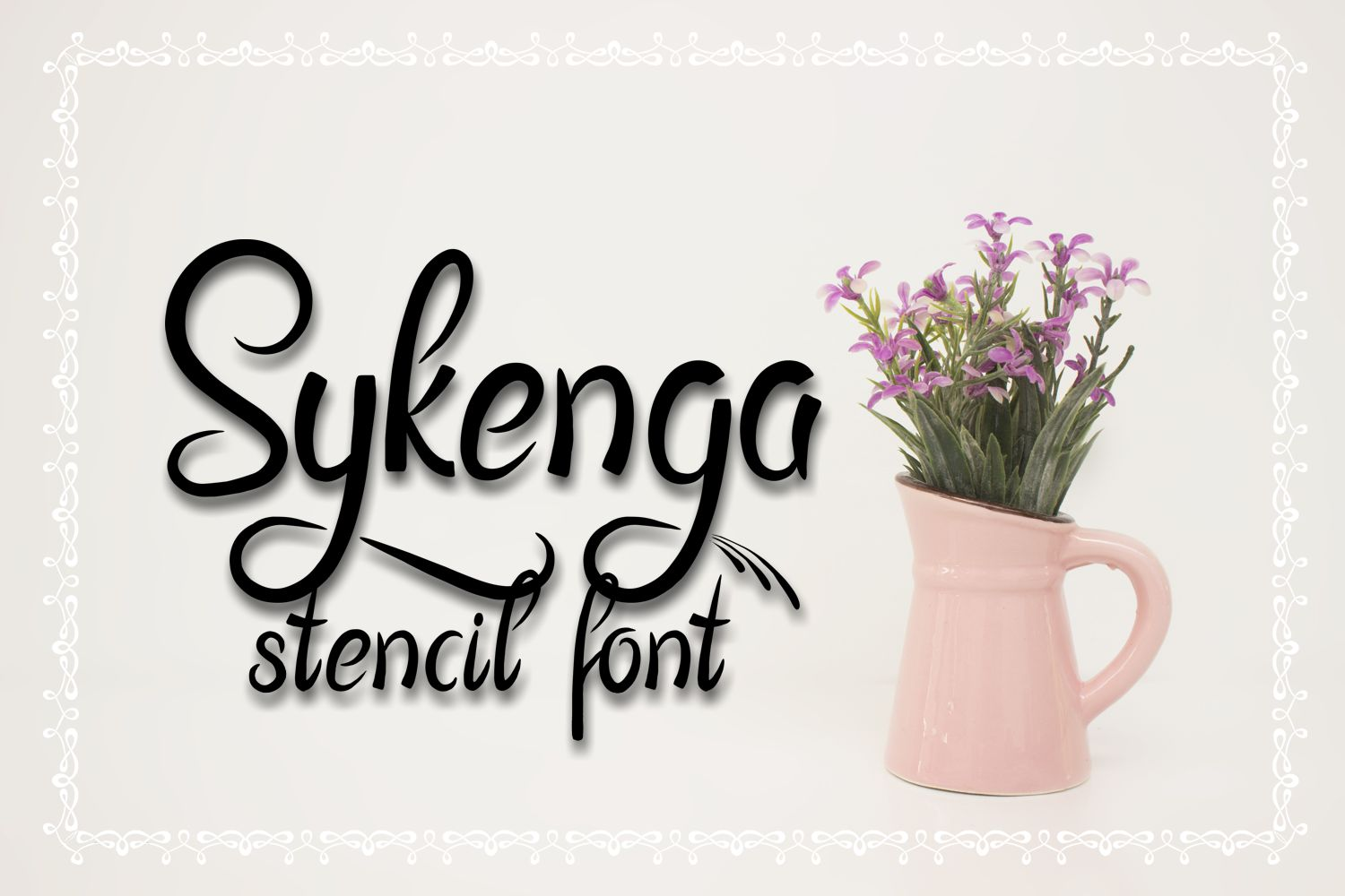 Sykenga Stencil Font example image 1