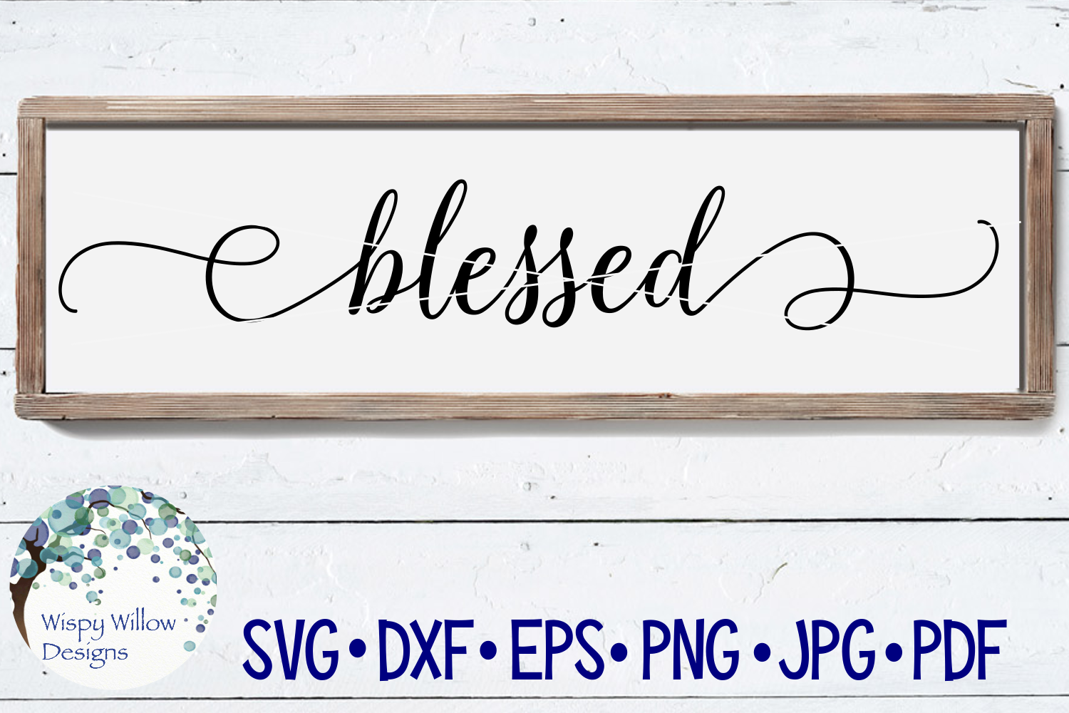Blessed | Wood Sign SVG Cut File example image 1
