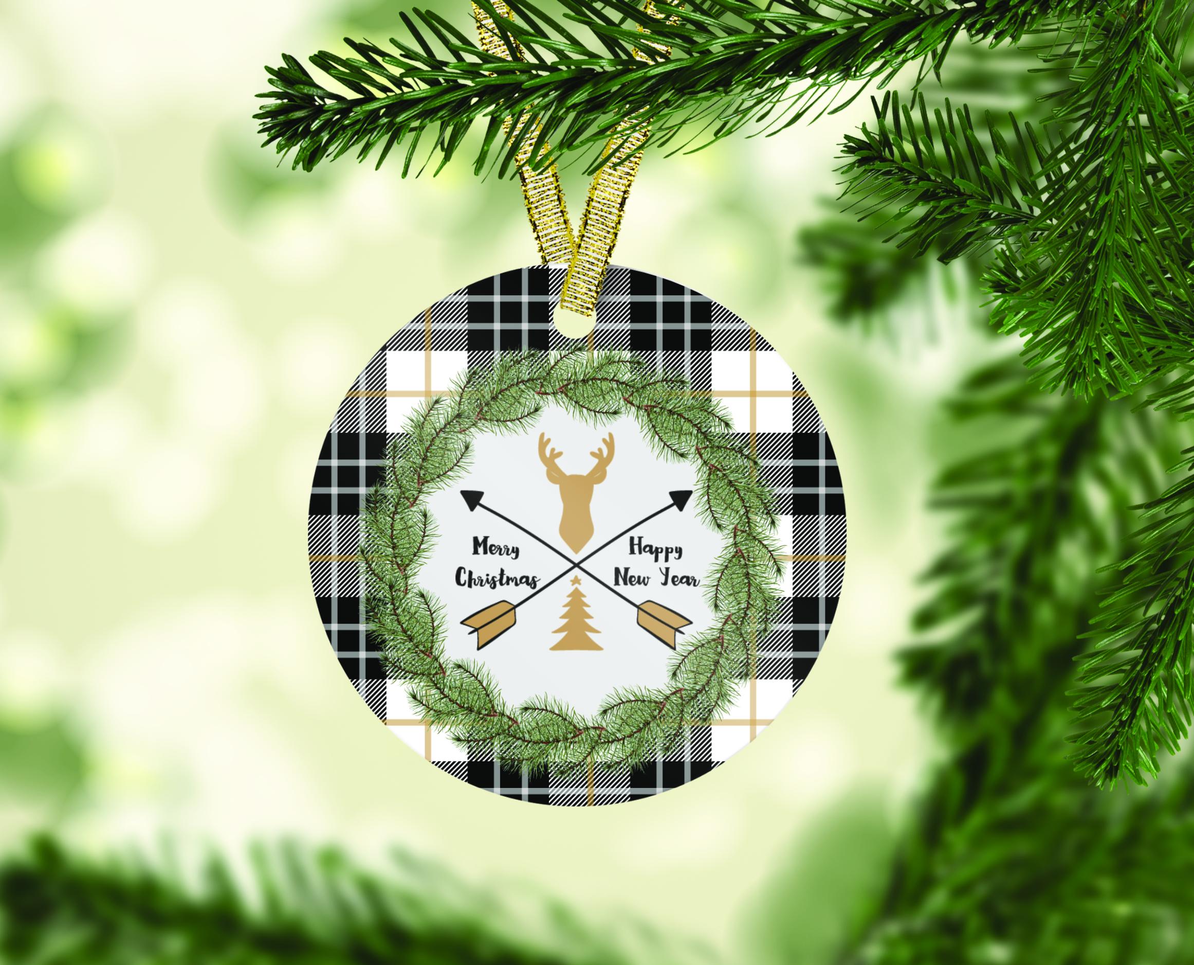 Farmhouse Christmas Ornament Bundle, Perfect for Sublimation example image 8