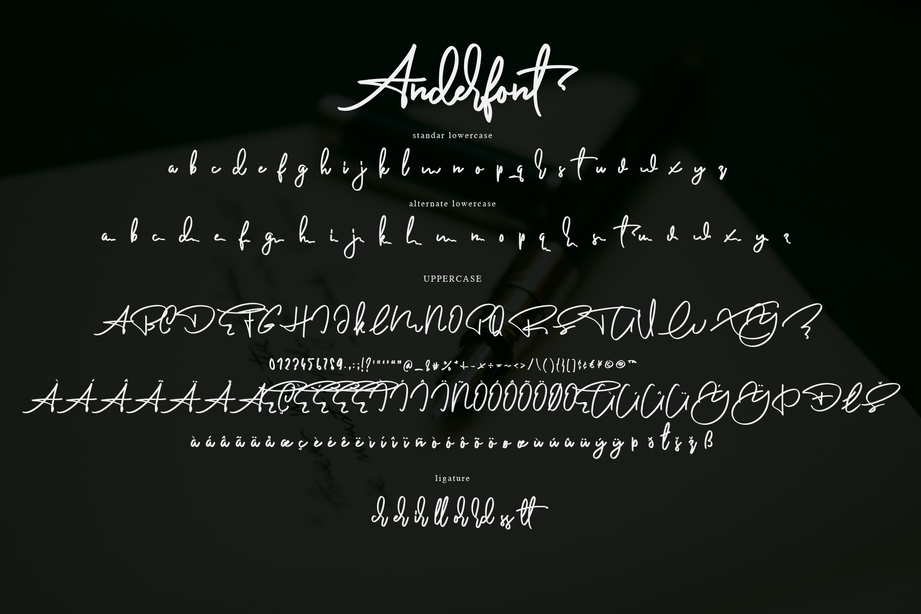 Anderfont - a Signature Font example image 10