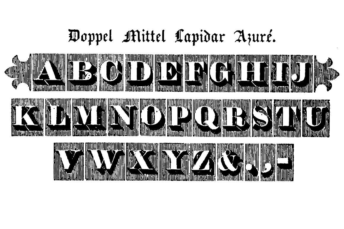 Doppel Mittel Lapidar Azuré example image 2