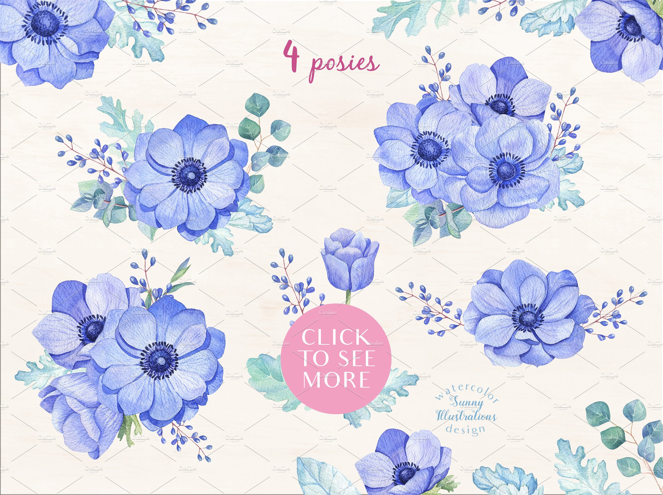 -40% OFF - Blue Anemones example image 4