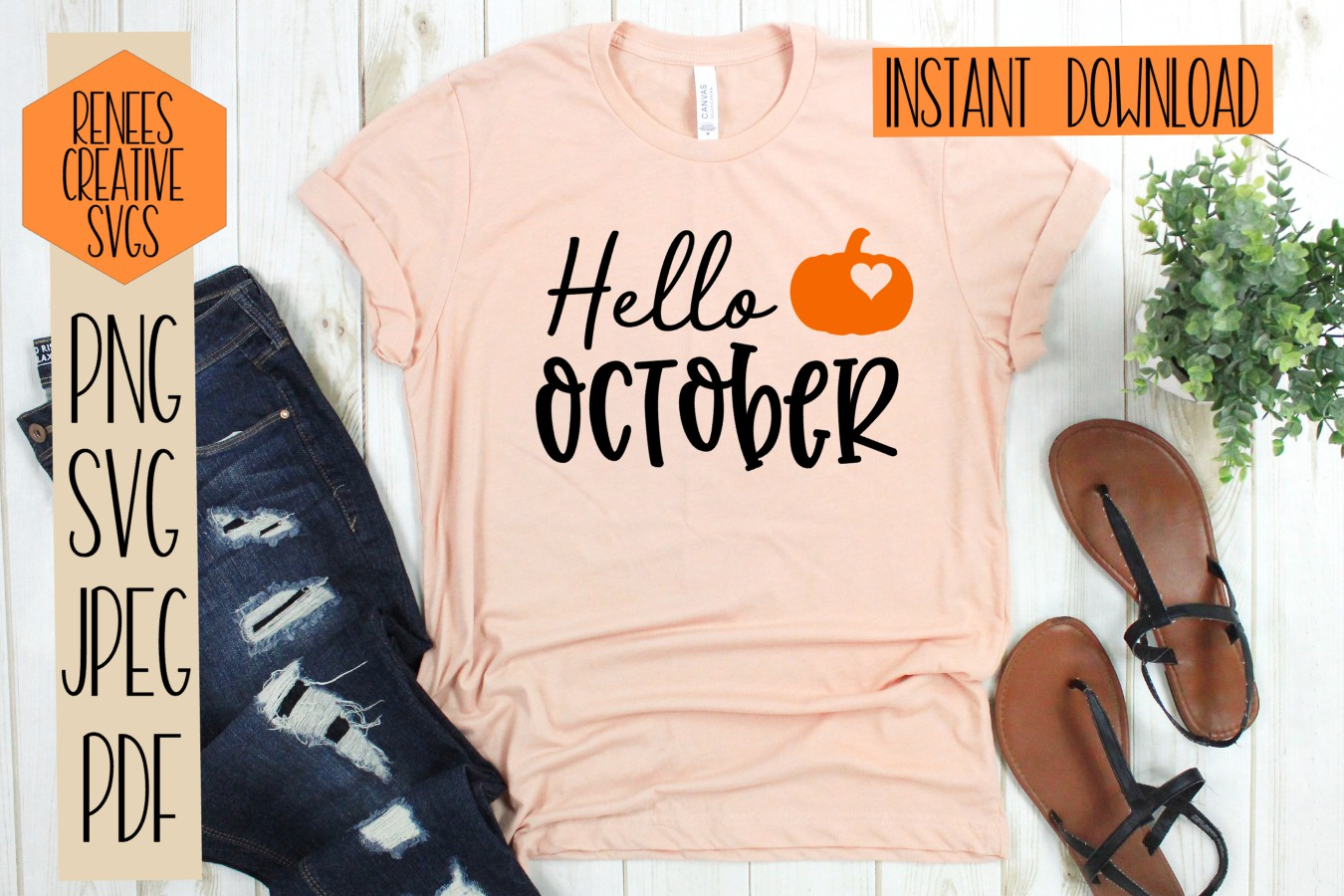 Hello October  Fall quotes  SVG Cut File example image 2