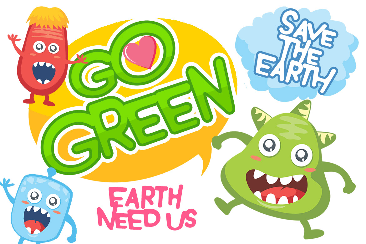 Monster World Font Family & Fun Vector Pack example image 8
