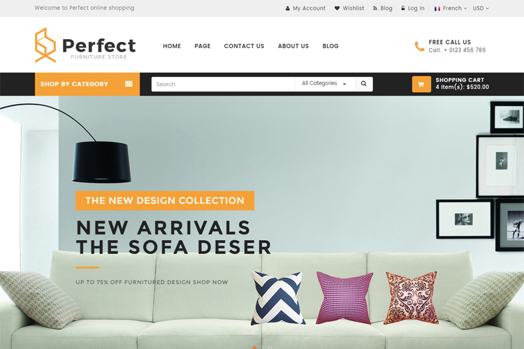 Perfect - Responsive Ecommerce HTML5 Template example image 2