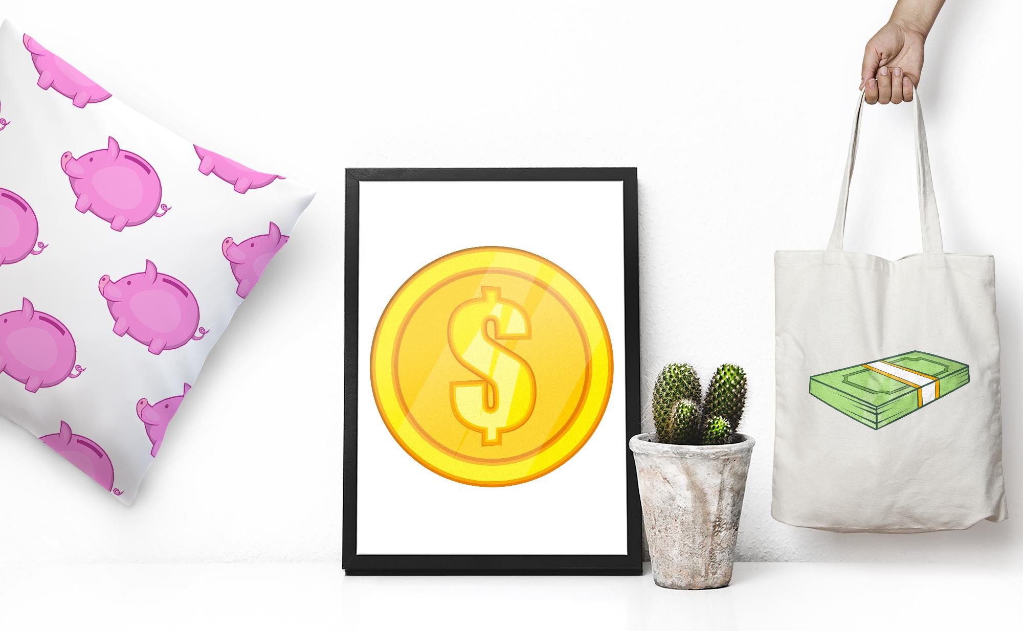 Finance icons set, cartoon style example image 2