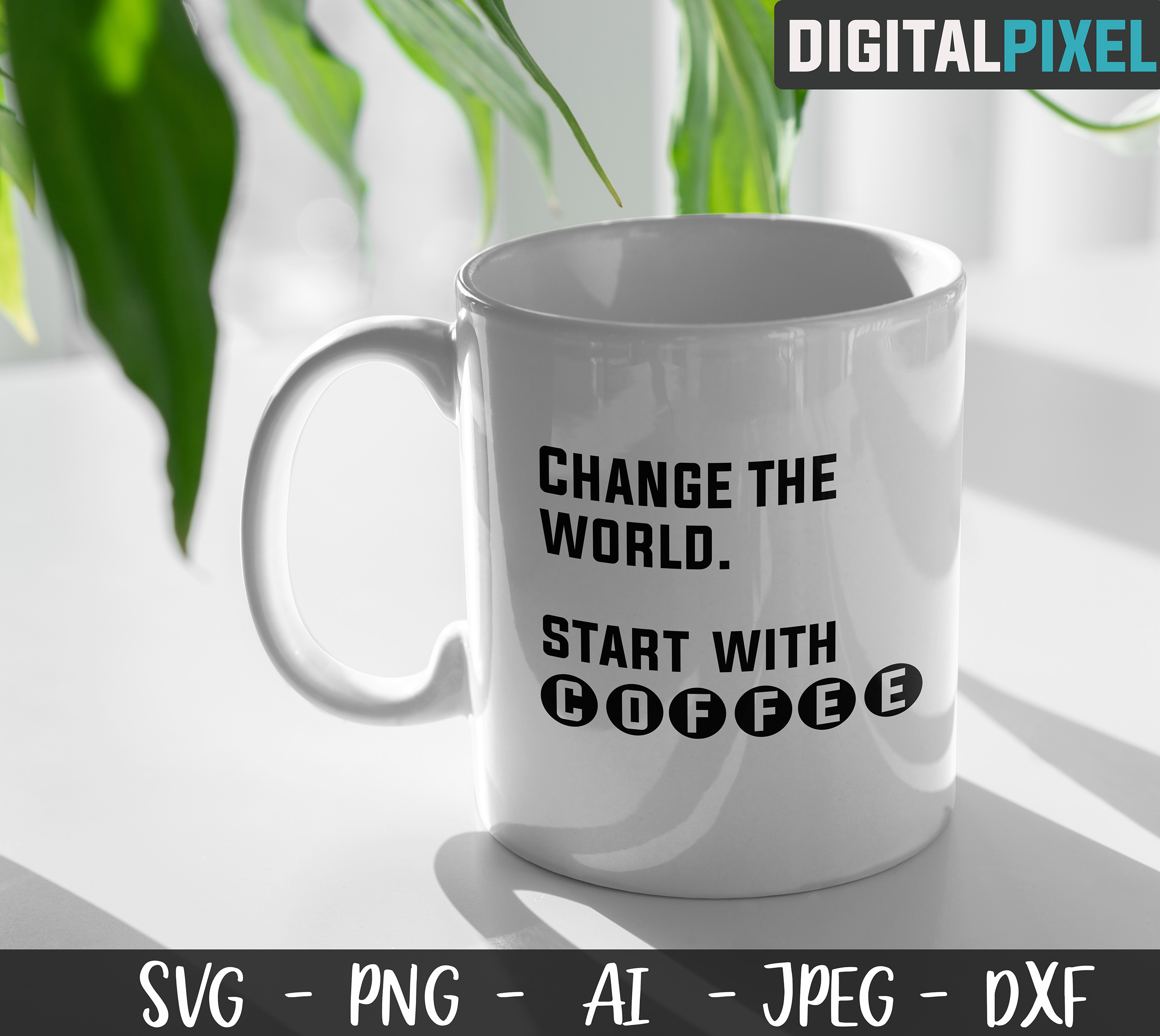 Coffee Bundle SVG PNG JPEG DXF Circut Cut Coffee Crafters example image 5
