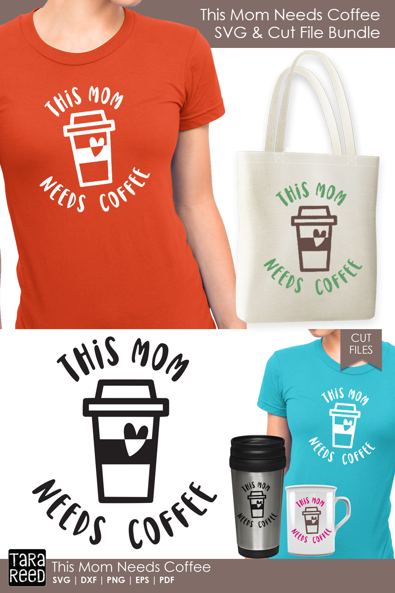 This Mom Needs Coffee - Family SVG & Cut Files for Crafters example image 2