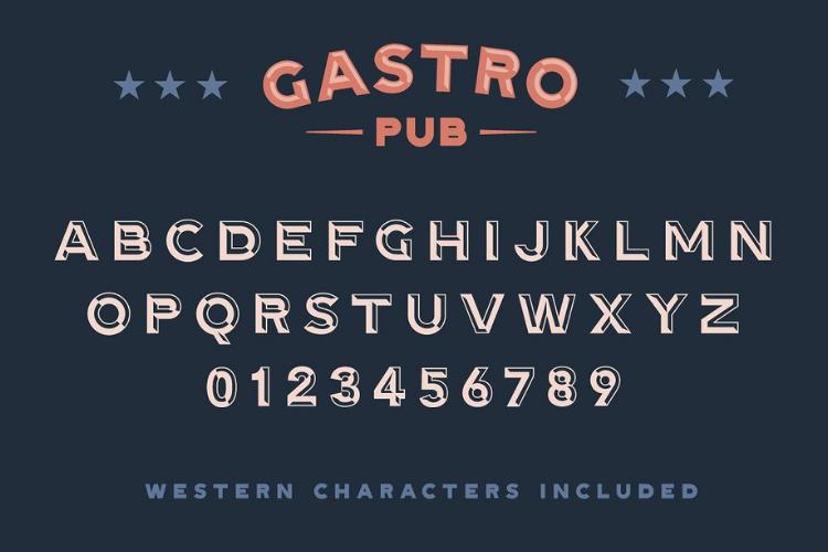 Gastro Pub - Type Family - Font Family example image 3