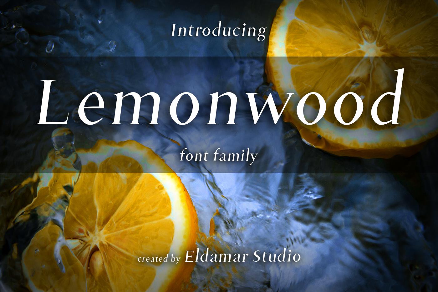 Lemonwood Font example image 1