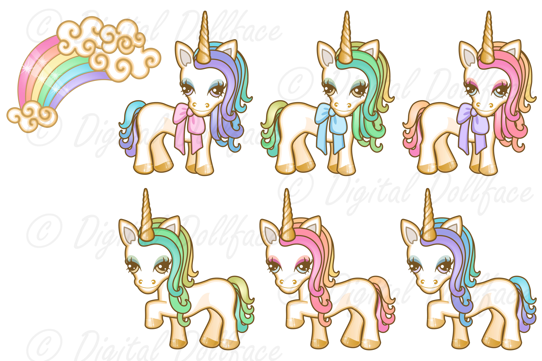 Pastel Unicorn Graphics example image 3