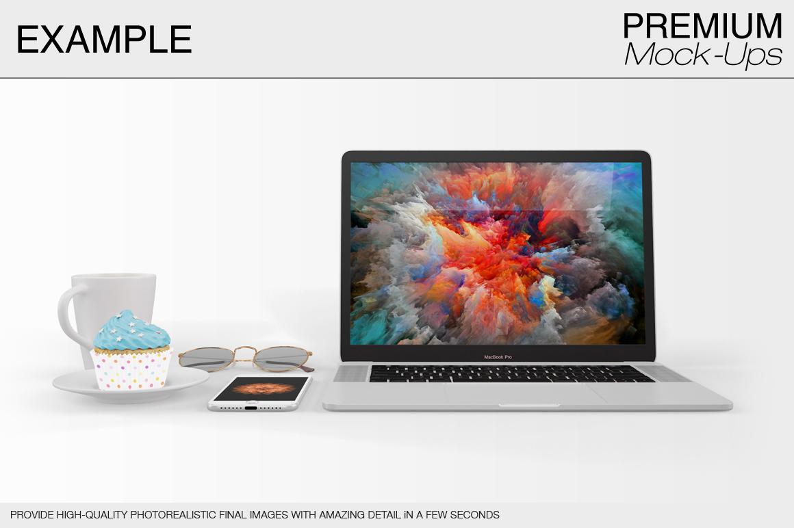 laptop mockup set apple macbook pro