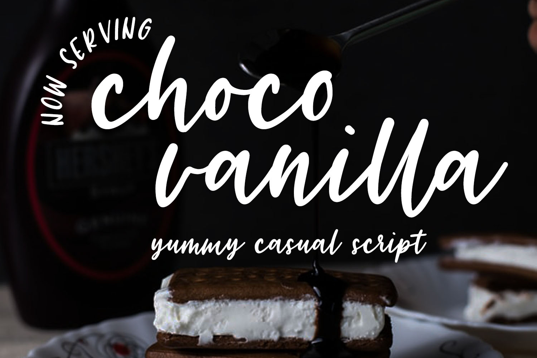 Choco Vanilla Handwritten Script Typeface example image 1