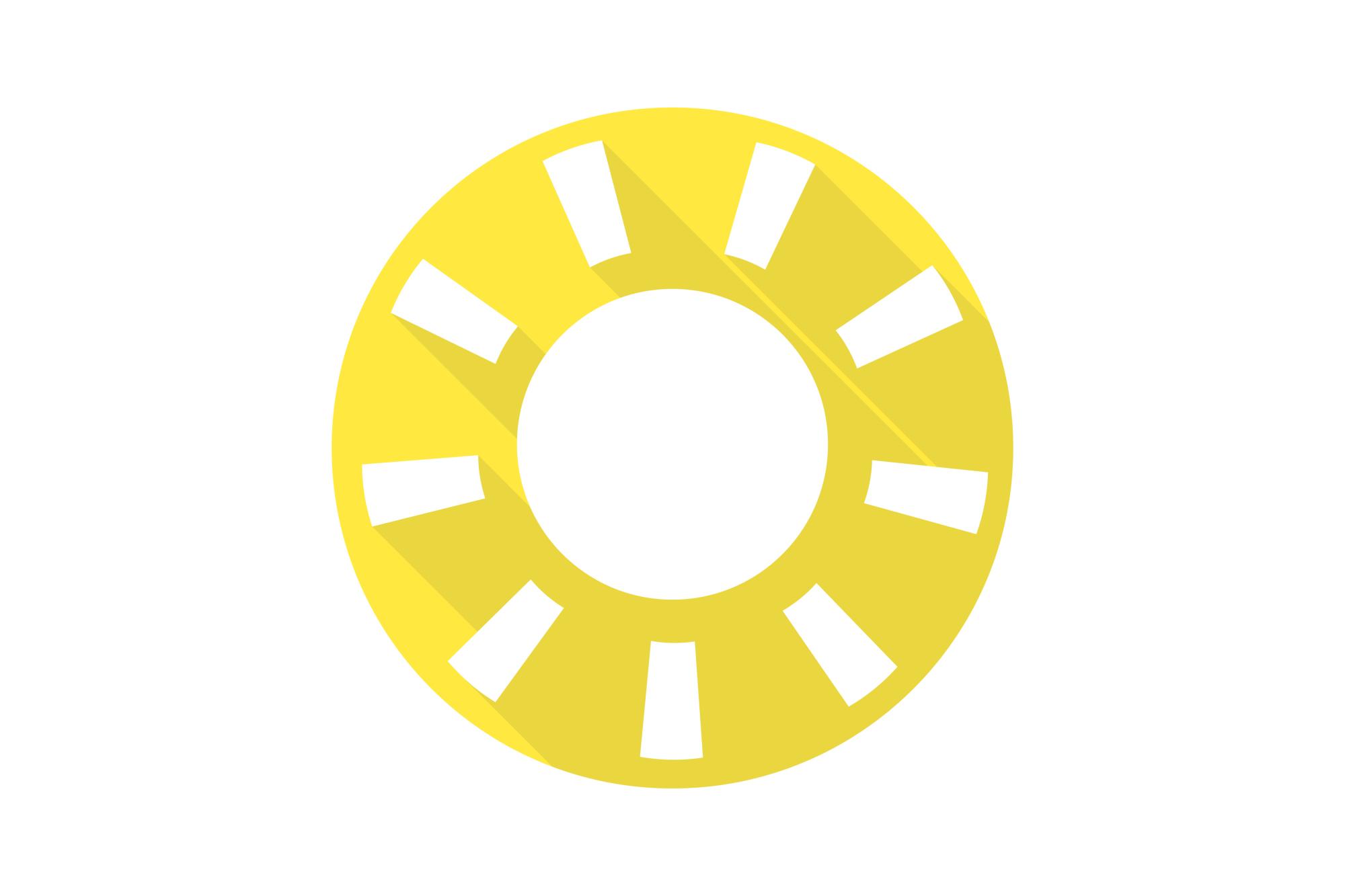 Vector sun icons set. Flat design. example image 13