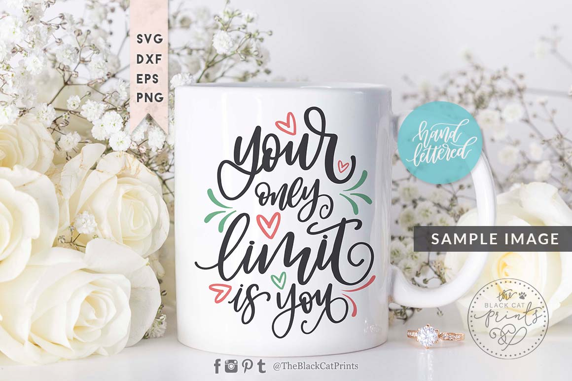 Your only limit is you SVG DXF EPS, Hand lettered example image 2