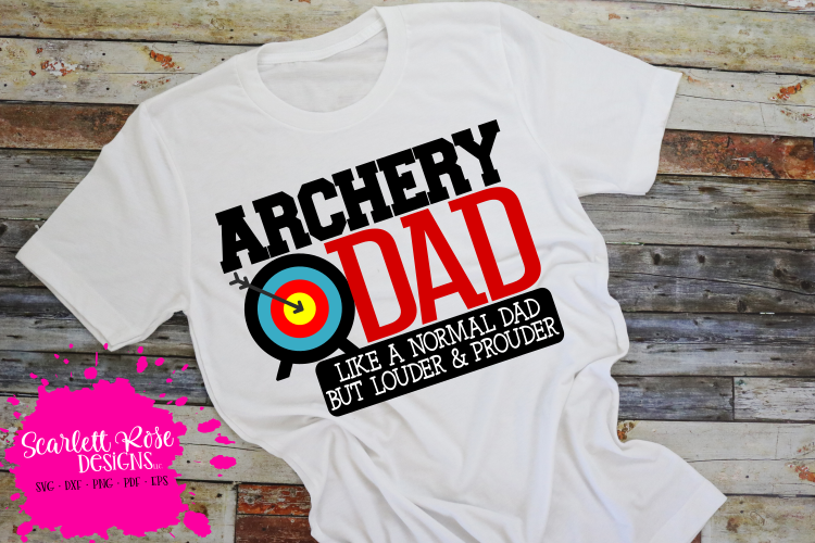 Archery Dad - Loud and Proud SVG example image 1
