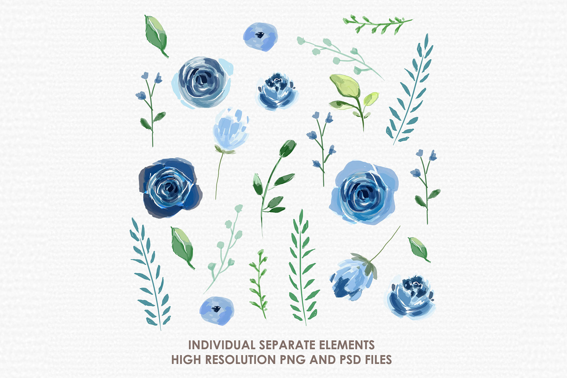 Bluebell - Digital Watercolor Floral Flower Style Clipart example image 2