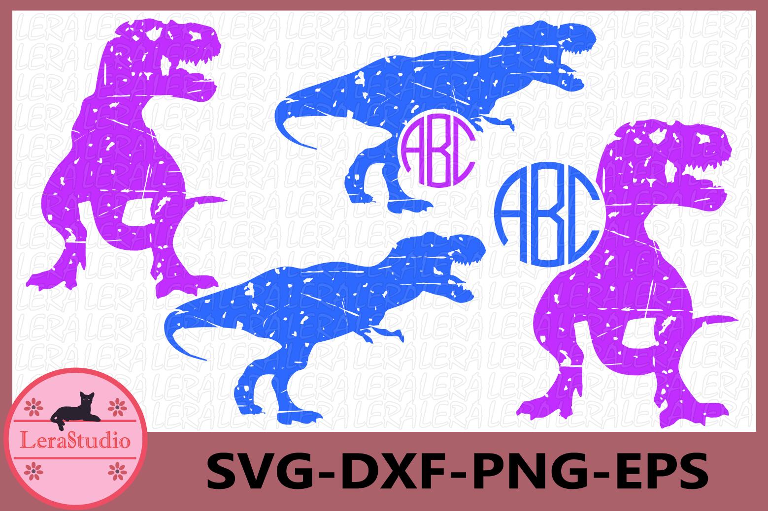 Dinosaurs Grunge SVG, Monogram Svg, Dinosaur Silhouette example image 1