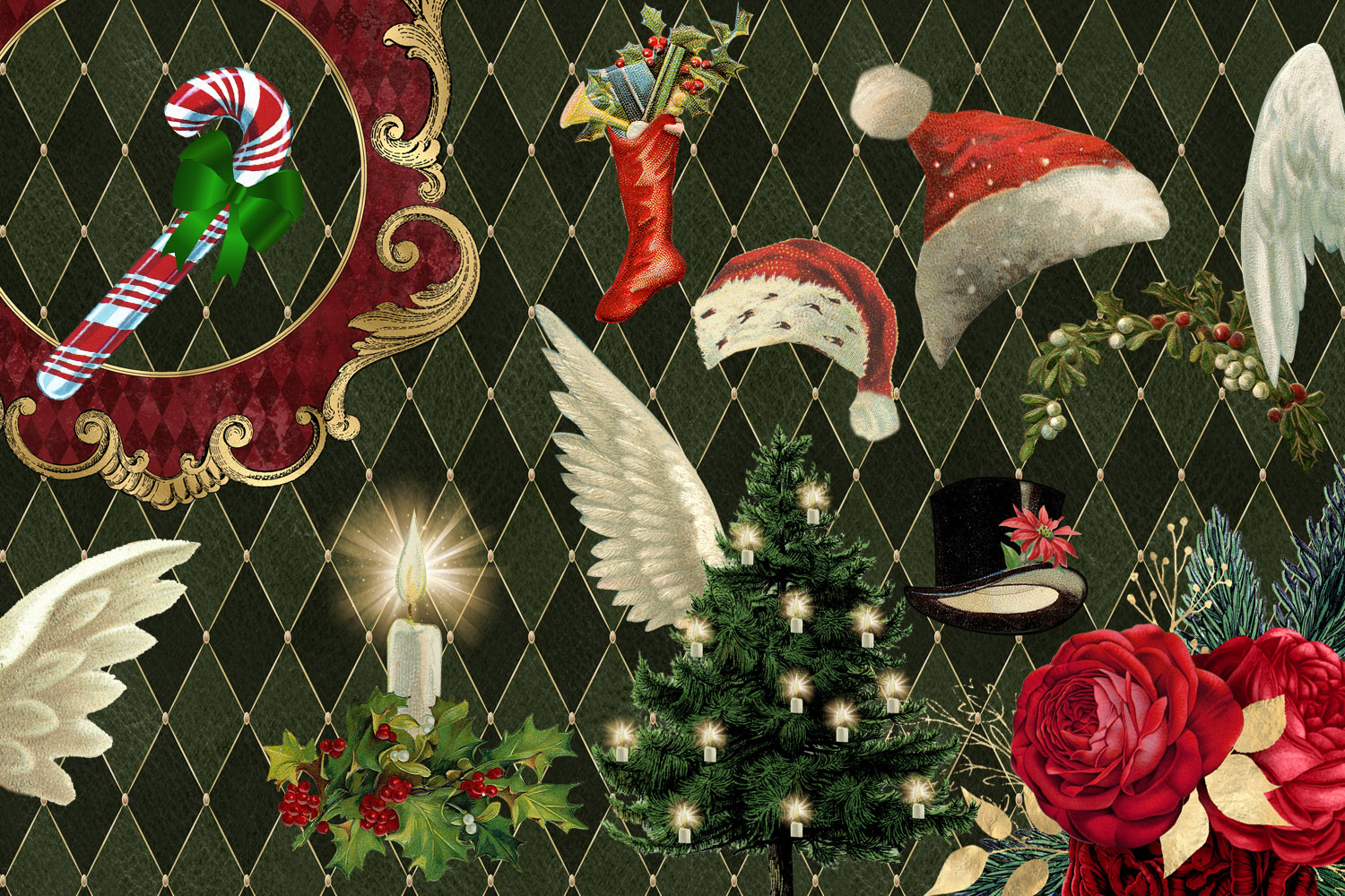 Christmas Alice In Wonderland Clipart example image 2