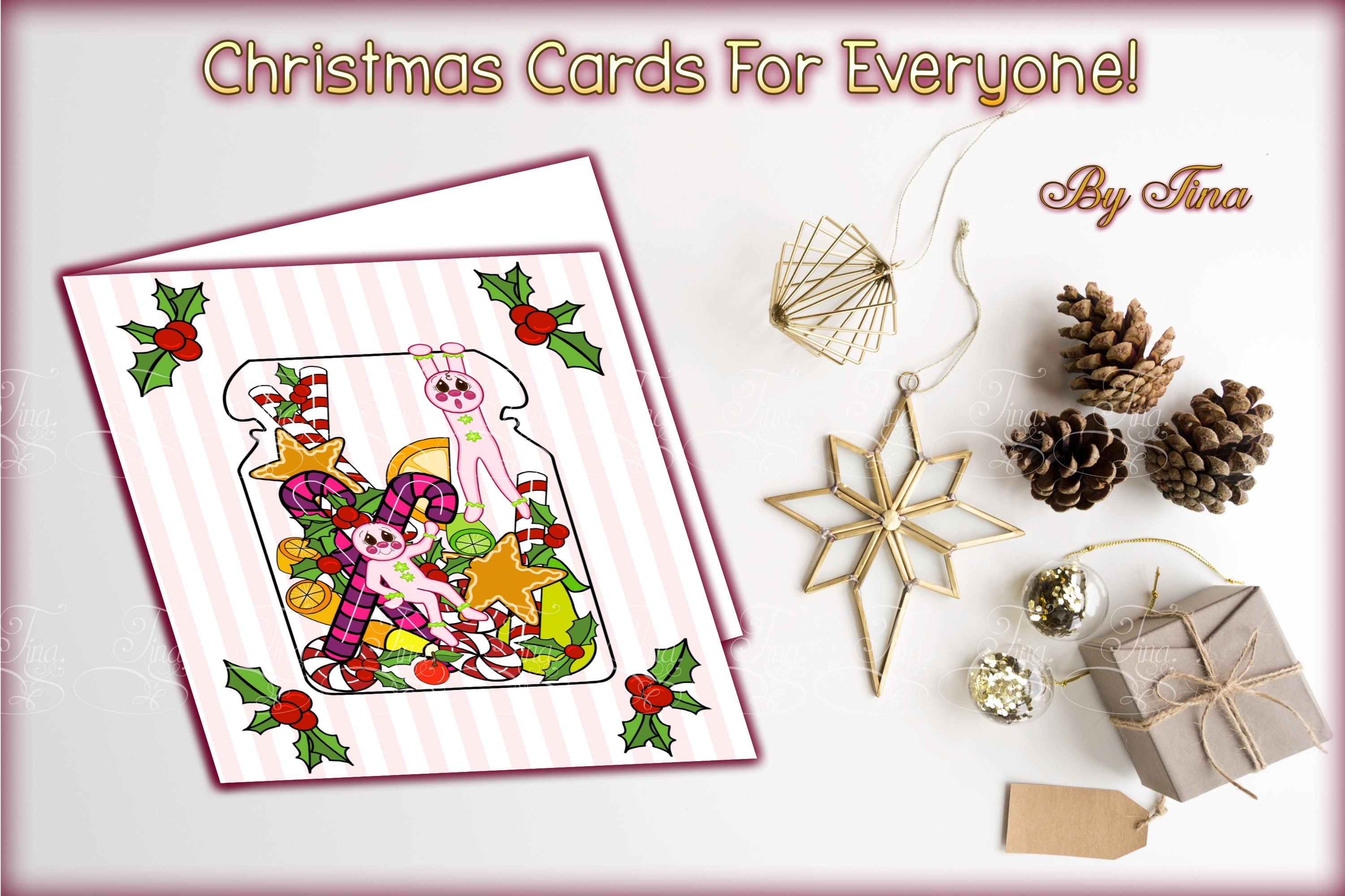 Christmas Sugar and Spice Pink Gingerbread Men 111218SSGB example image 2