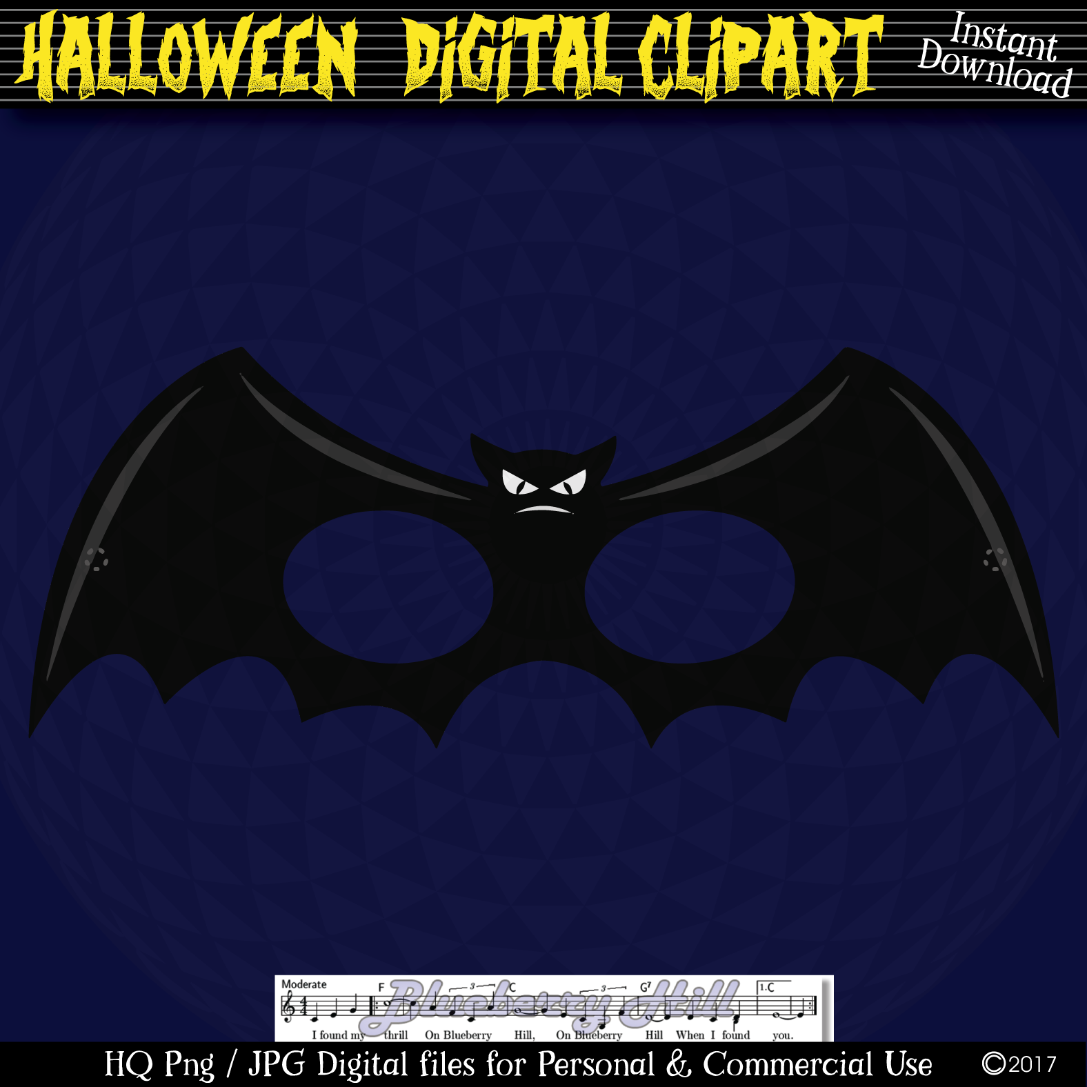 Halloween Party Masks printable, DIY Halloween Digital Clip example image 2