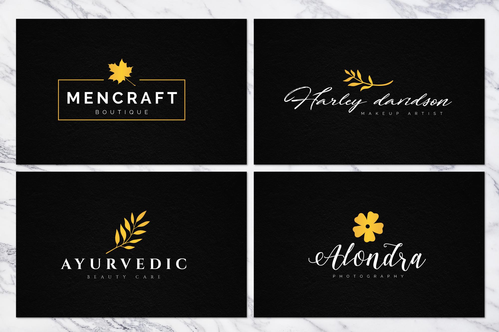 70 Elegant Floral Logo Bundle example image 4