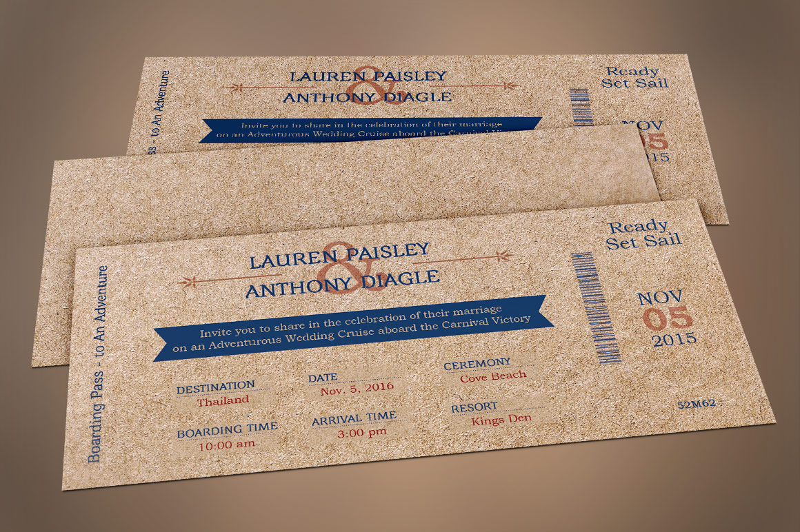 Cardboard Boarding Pass Invitation Template example image 5