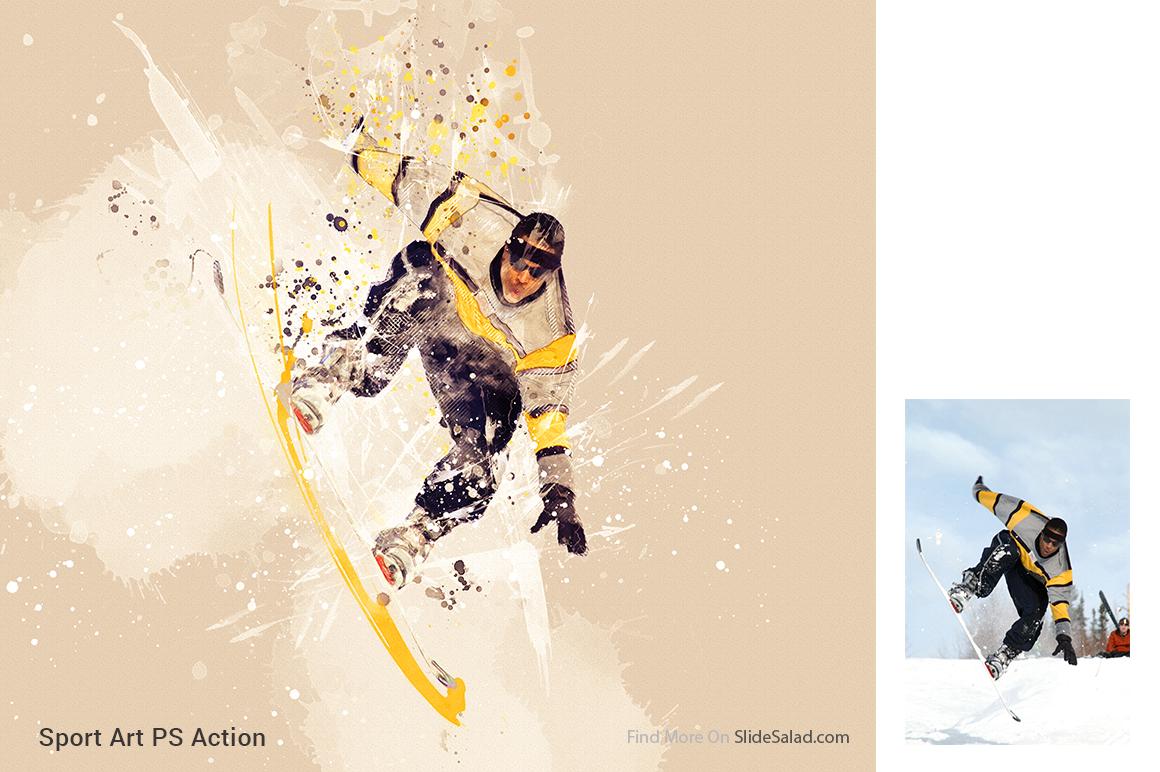 Sports Modern Art Photoshop Action example image 9