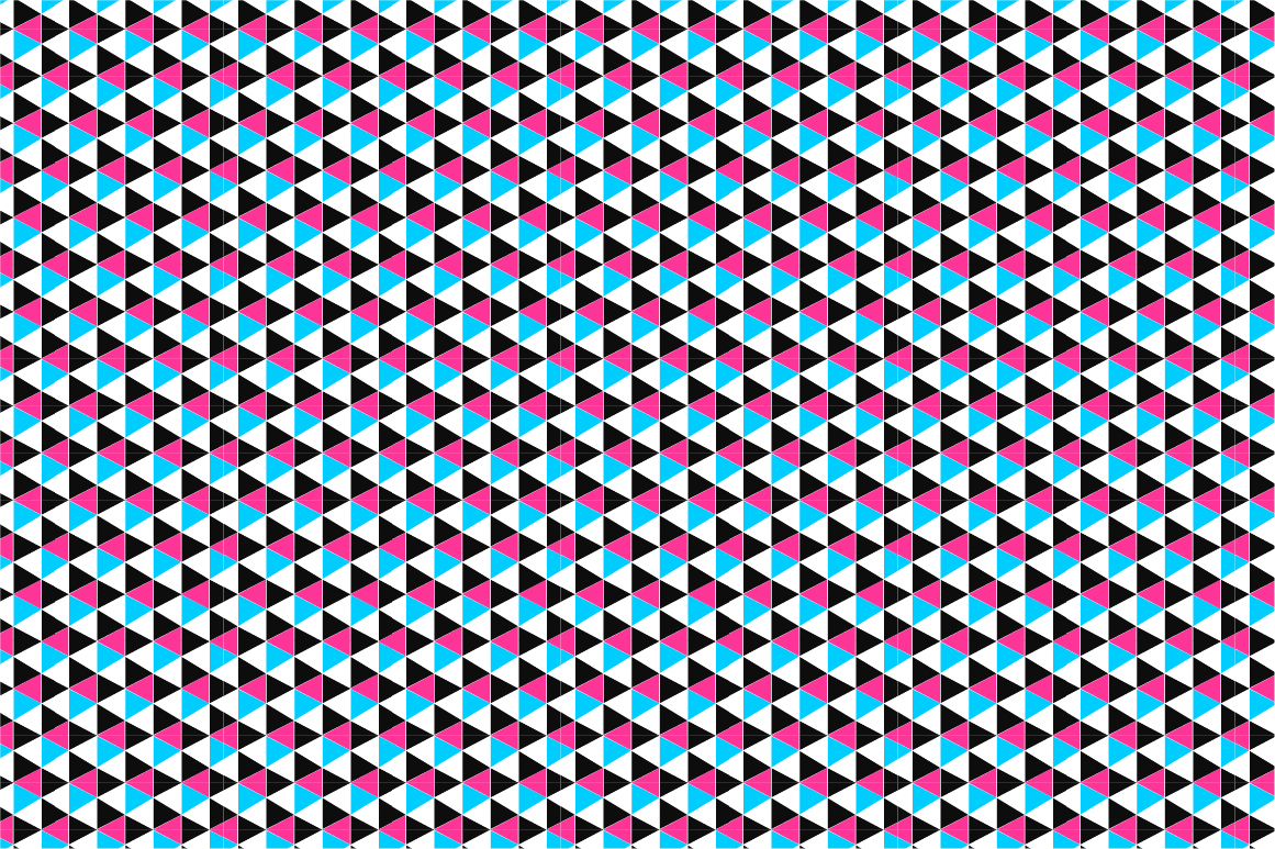 Geometric seamless color patterns. example image 6