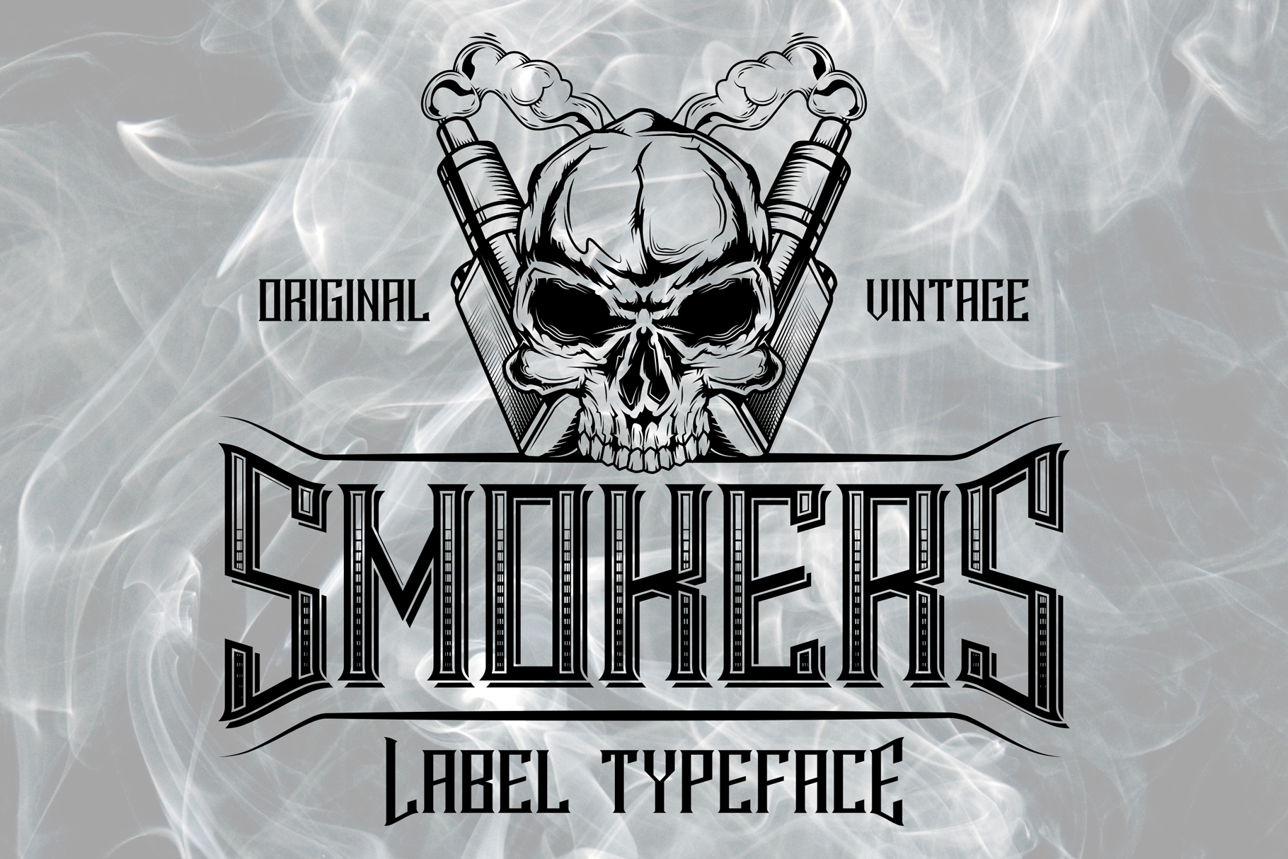 Smokers typeface example image 3
