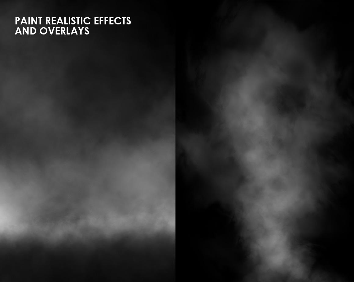 Clouds, Fog, Smoke Photoshop Brushes example image 2