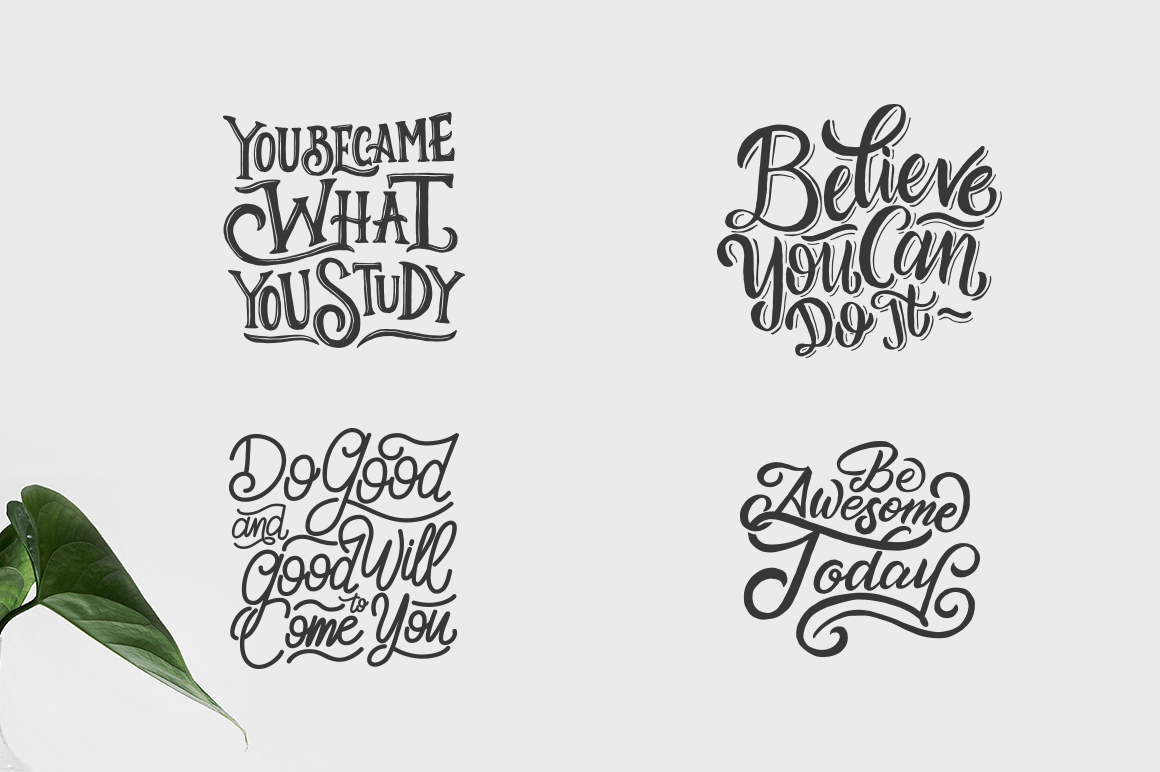 SVG Bundle - Hand Lettering Motivational Quotes Vol 2 example image 6