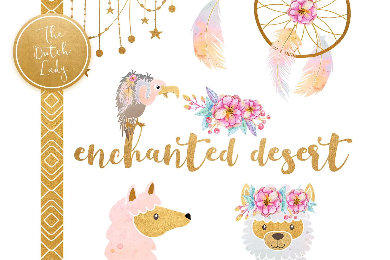 Enchanted Boho Desert Clipart Set example image 6