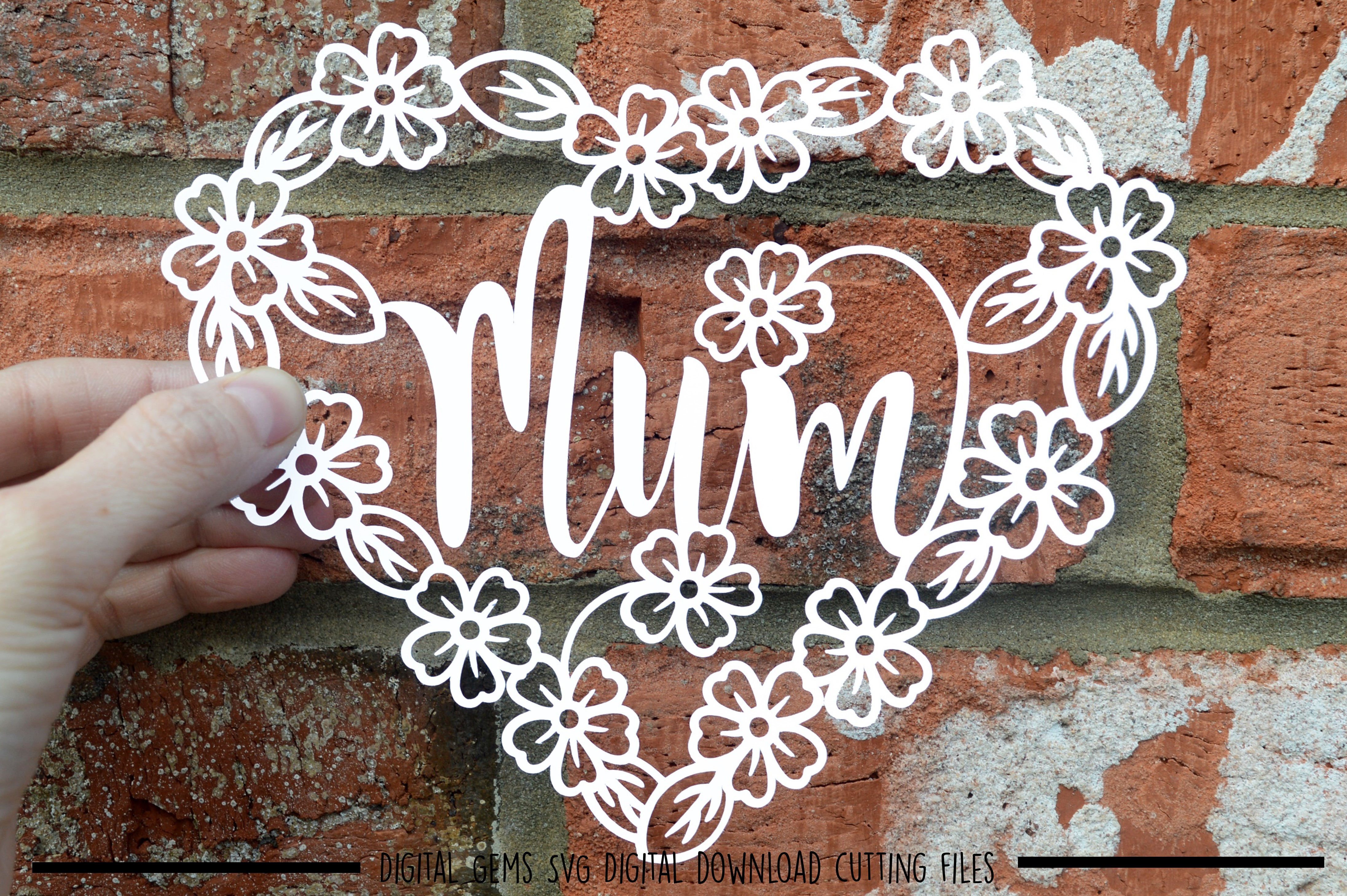 Mum paper cut SVG / DXF / EPS files example image 1