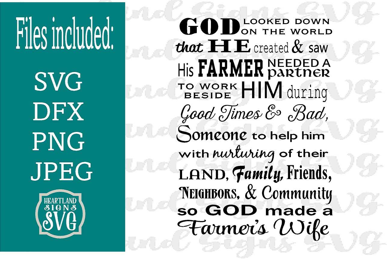 Farmer Wife SVG example image 1