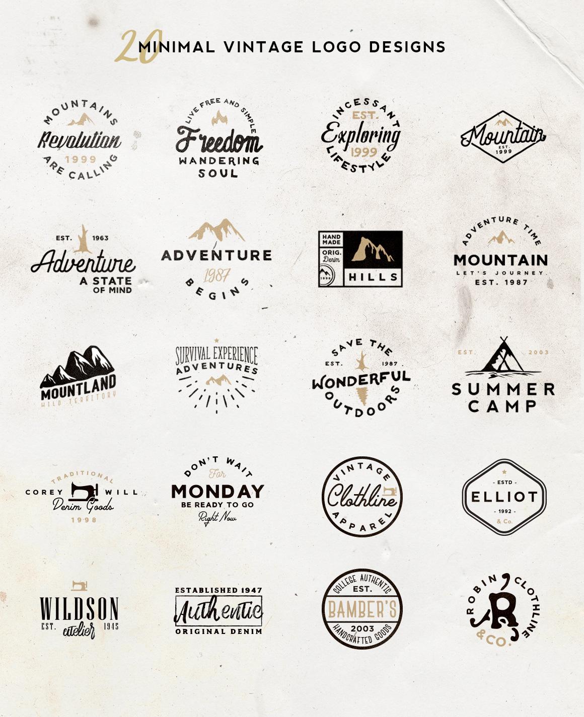 Vol. 5 | 20 Minimal Vintage Logos example image 2