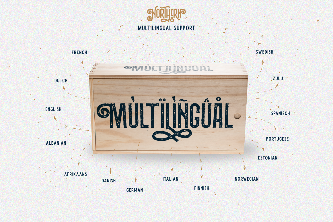 Northern 5 Fonts with Extras example image 11