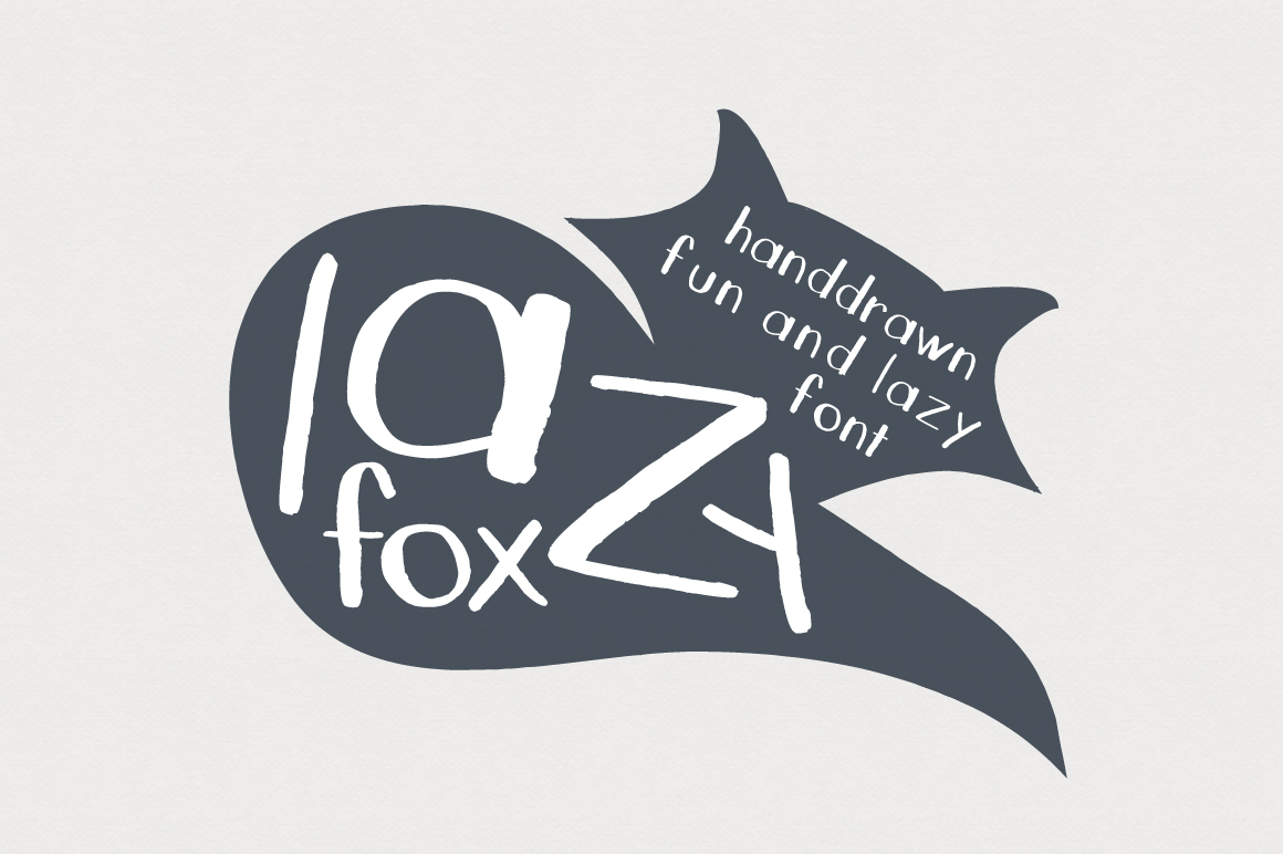 LazyFox Hand Drawn Font example image 1