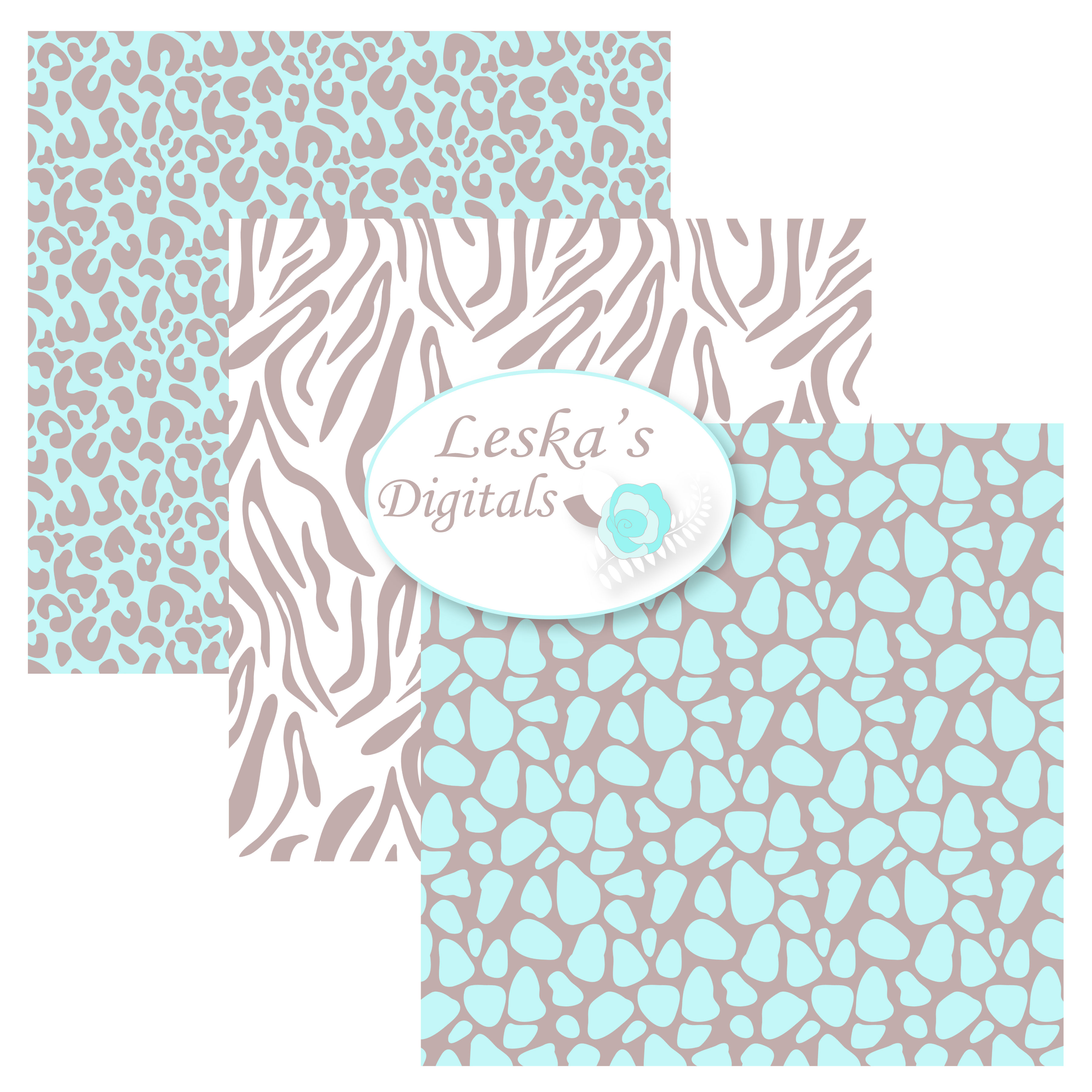 Animal Prints - Baby Blue Safari example image 3