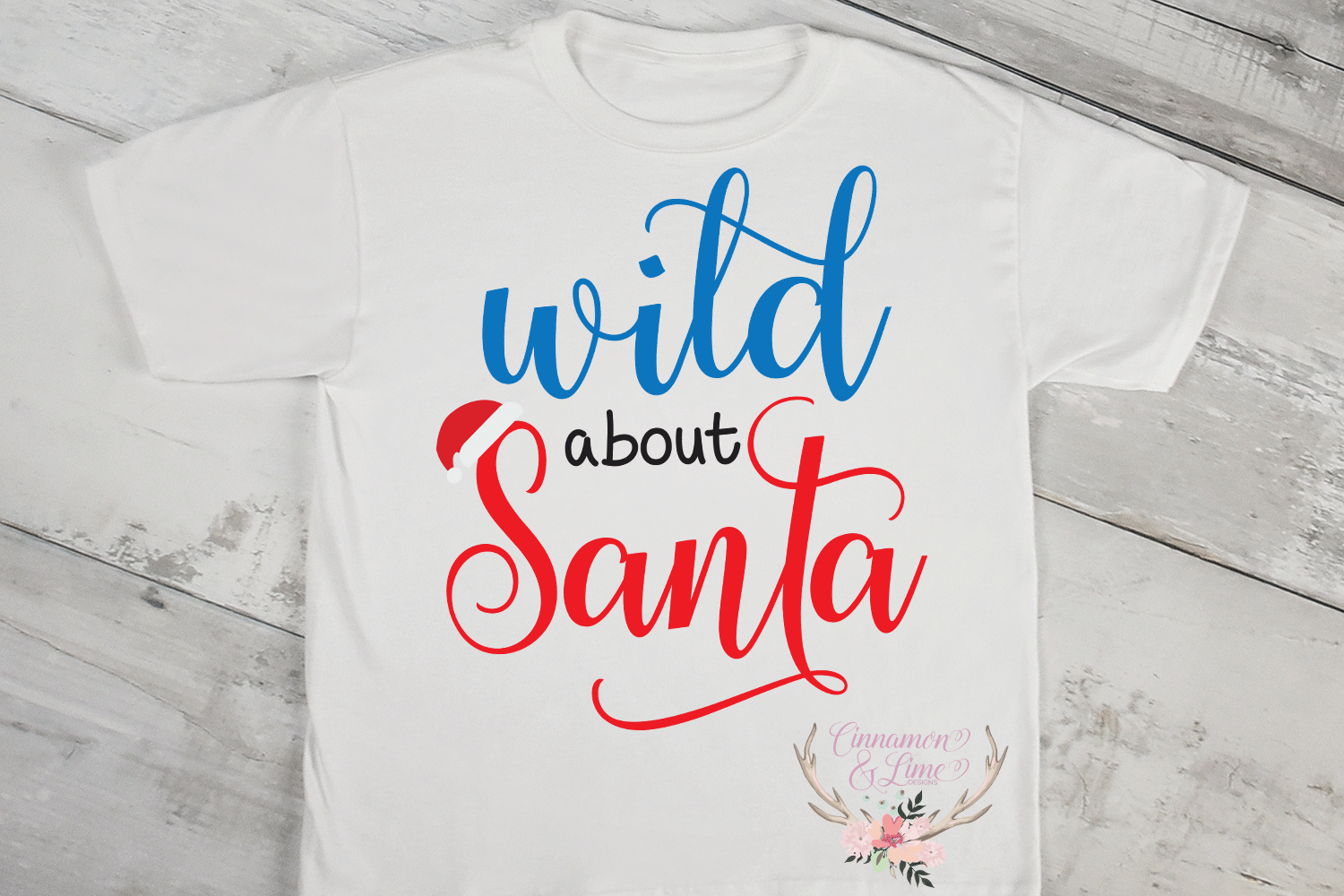 Christmas Svg - Wild About Santa Kids Svg example image 2