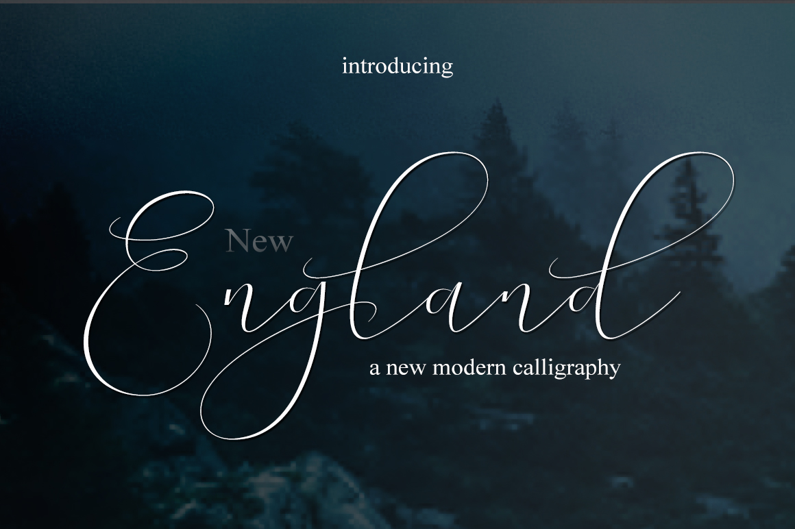 NEW England Script example image 2