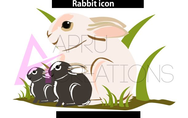 rabbit web icon svg vector /rabbit vector icon, commerical use, SVG / DXf / Png , EPS, vector example image 1